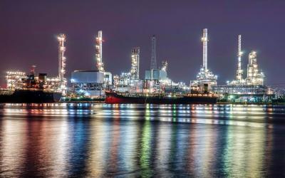 Petrochemie und Tanklager