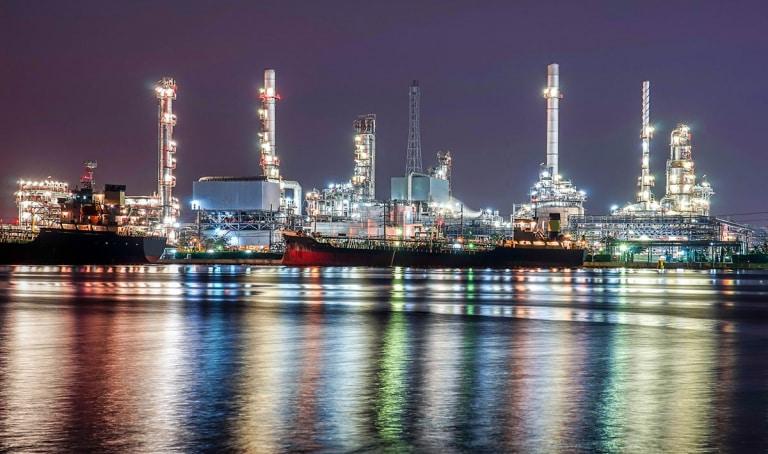 Brandschutz für Rohöl-Raffinerie