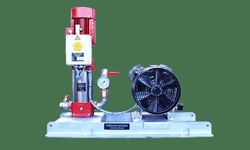 Kesselfüllpumpenaggregat mit Kompressor