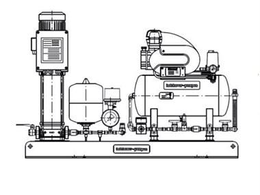 Druckhaltepumpenaggregat mit Druckluftanlage