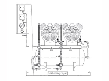Druckluftversorgungsanlage für große DLBW