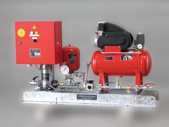 Kesselfüllpumpenaggregat mit Druckluftanlage