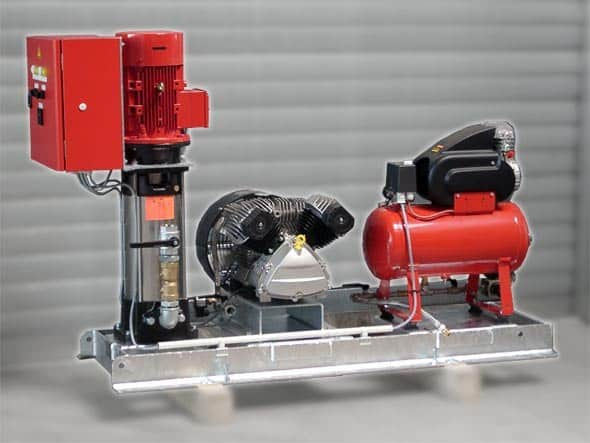 Kesselfüllpumpenaggregat mit Druckluftanlage und Kompressor