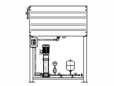 Pumpen-Auffüllbehälter mit Druckhaltepumpenaggregat und Membranbehälter