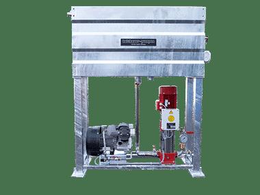 Pumpen-Auffüllbehälter mit Kesselfüllpumpe und Kompressor
